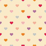 Tile pattern with sweet hearts on pastel background Stock Photo