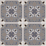 Tile pattern vector seamless with flowers. Portuguese tiles, spanish design. Stock Image