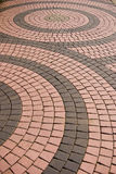 Tile pattern on walkway in the park Stock Photos