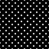 Tile  pattern with white polka dots on black background Royalty Free Stock Photography