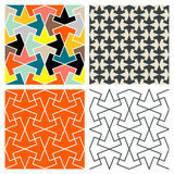 Tile Patterns. Seamless mosaic tile patterns based on an Islamic pattern vector illustration