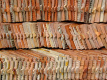 Tile pile. Pile of temple roofing tiles royalty free stock photography