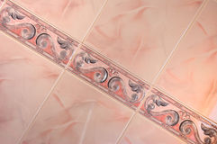 Tile pink abstract Stock Photography