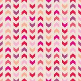 Tile pink arrow vector pattern Royalty Free Stock Image