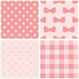 Tile pink vector pattern set Stock Image