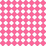 Tile pink and white vector background or pattern Stock Photo
