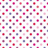 Tile polka dots vector pattern on white background Stock Photo