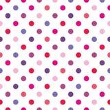 Tile polka dots vector pattern on white background Stock Photo