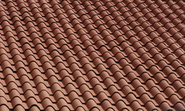 Tile Roof 2. Red clay roofing tiles Stock Photography