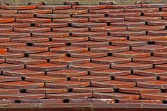 Tile roof. Royalty Free Stock Images