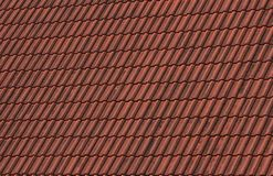 Tile Roof. The old red colored tile roof Royalty Free Stock Images