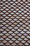 Tile roof. Scale shaped ceramic tile roof background detail Royalty Free Stock Photo
