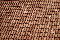 Tile roof. Brown tile roof in house Stock Photos