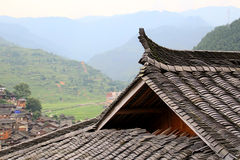 Tile roof Ancient town in China. Tile roof。Tile roof。Ancient town in China Stock Photos