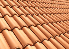 Tile roof background Royalty Free Stock Images