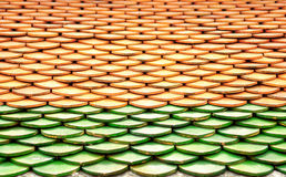 Tile roof background in Thailand Stock Images