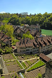 Tile roof of Bern and Aare river(Switzerland) Stock Photo