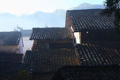 Tile roof in chinese village Shicheng Royalty Free Stock Photography