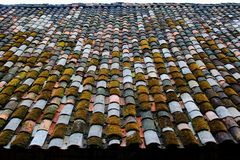 Tile roof. Eastphoto, tukuchina,  Tile roof old building Stock Photos