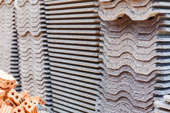 Tile roof for house construction Royalty Free Stock Photo