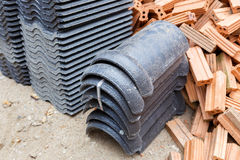 Tile roof for house construction Royalty Free Stock Photography