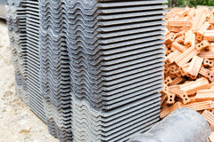 Tile roof for house construction Stock Photography