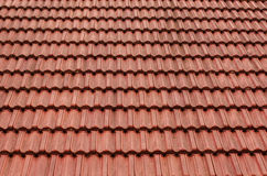 Tile roof. Italian red tile roof for background. Royalty Free Stock Images