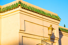 tile roof  moroccan old wall and brick Stock Photo