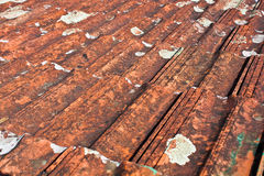 Tile roof with moss. Santa Clara, Cuba Royalty Free Stock Images