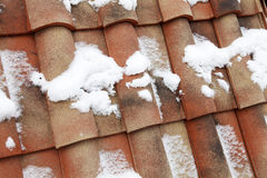 Tile roof of red color Stock Images