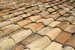 Tile roof of Rome Stock Image