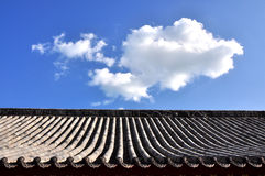 Tile and roof structure Royalty Free Stock Image