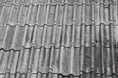Tile roof texture for background.  Stock Image