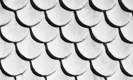 Tile roof. Tile texture background /Black and white Stock Photo