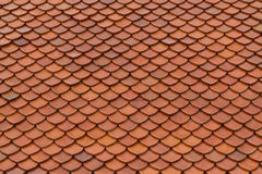 Tile roof texture. Tile roof of old Thai temple texture background surface natural color Stock Image