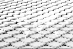 Tile roof texture surface with world map Royalty Free Stock Images
