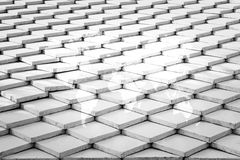 Tile roof texture surface with world map Royalty Free Stock Photos