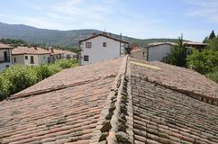 Tile roof and traditional houses Royalty Free Stock Image