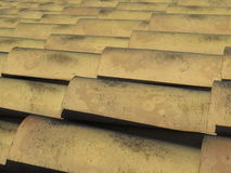 Tile roof. Traditional old tiled roof seen in Italy Royalty Free Stock Photo