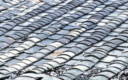 Tile roofed house. Ancient chinese tile roofed house Royalty Free Stock Images