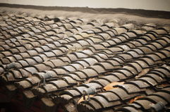 Tile-roofed house Stock Photography