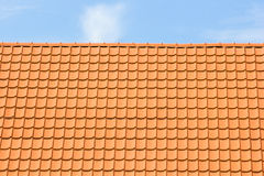Tile-roofed house. Royalty Free Stock Photos