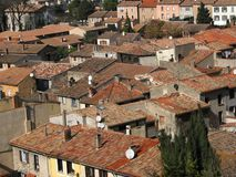 Tile roofs Royalty Free Stock Images