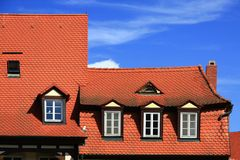 Tile roofs Stock Image