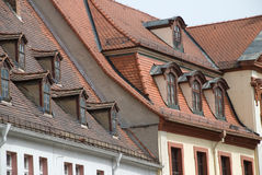 Tile roofs Royalty Free Stock Photos