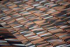 Tile roofs angle 2 Royalty Free Stock Images
