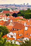 Tile roofs of the old city. Top view Stock Photos