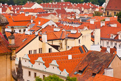 Tile roofs of the old city. Top view Royalty Free Stock Photography