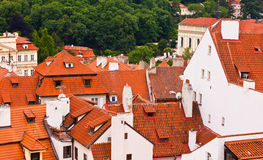 Tile roofs of the old city. Top view Stock Photo