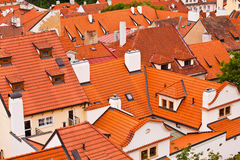 Tile roofs of the old city. Top view Royalty Free Stock Images